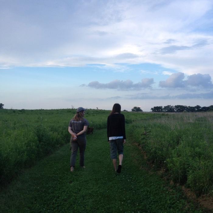 Walking near Lake Mills in July