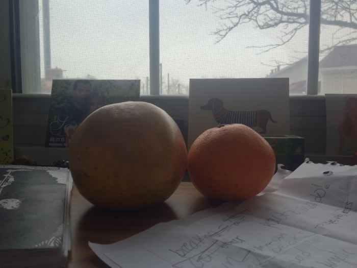 Oranges for real.